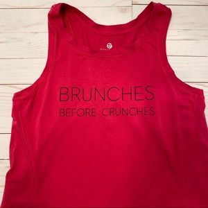 Soma Sport Fly Away Tank Brunches Before Crunches